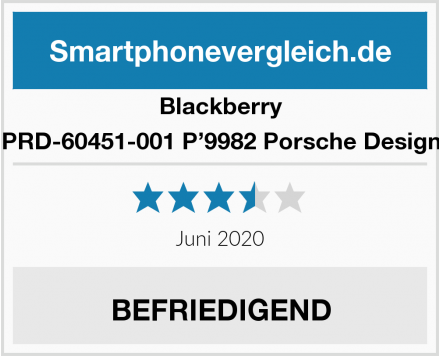 Blackberry PRD-60451-001 P'9982 Porsche Design Test
