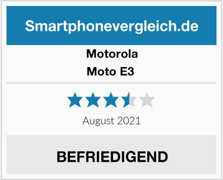 Motorola Moto E3  Test