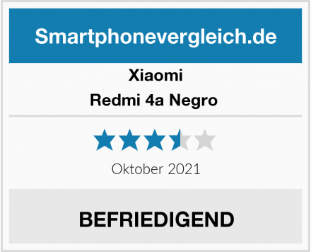 Xiaomi Redmi 4a Negro  Test