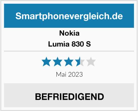Nokia Lumia 830 S Test