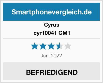 Cyrus cyr10041 CM1 Test