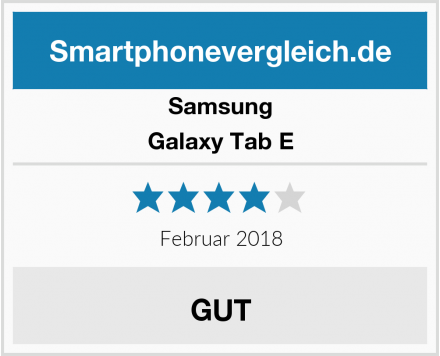 Samsung Galaxy Tab E Test
