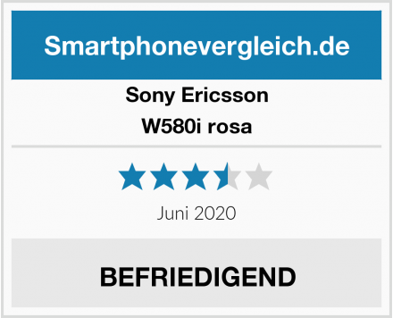 Sony Ericsson W580i rosa Test
