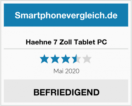 Haehne 7 Zoll Tablet PC Test