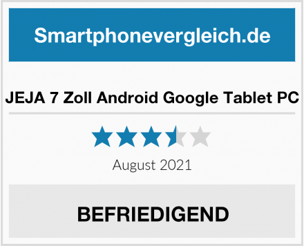 JEJA 7 Zoll Android Google Tablet PC Test