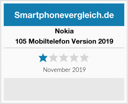 Nokia 105 Mobiltelefon Version 2019 Test