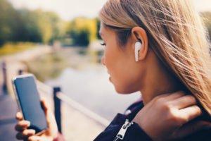 Kabellose Kopfhörer für Smartphones